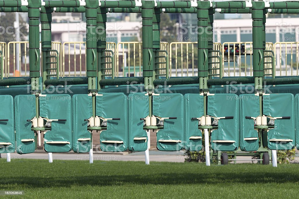 Starting Gate for Horse Racing stock photo