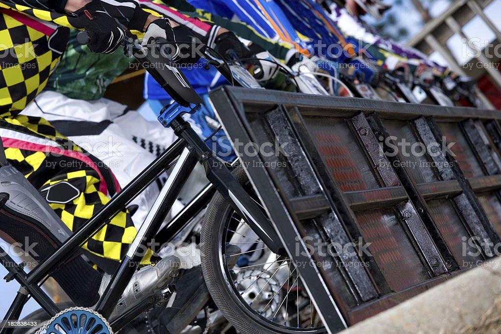 BMX Starting gate royalty-free stock photo