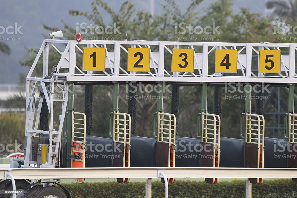 Starting Gate stock photo