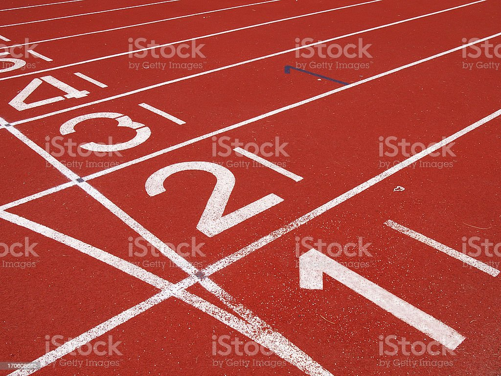 Starting Grid of Race Track in Stadium royalty-free stock photo