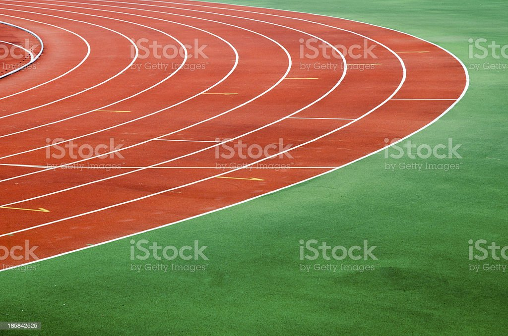 Starting grid of race track royalty-free stock photo