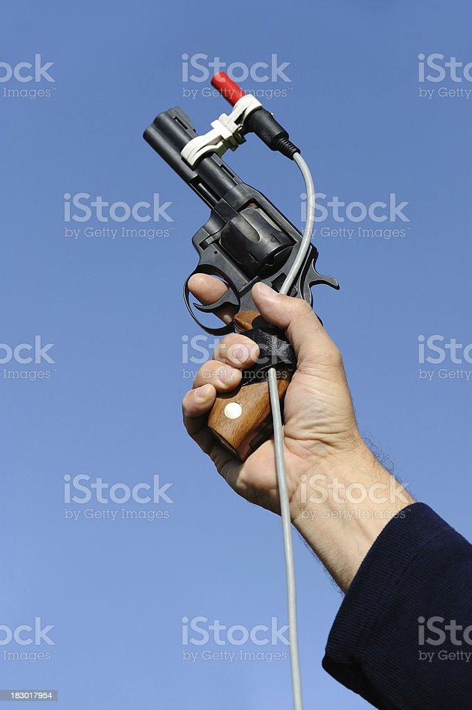 Starting gun stock photo