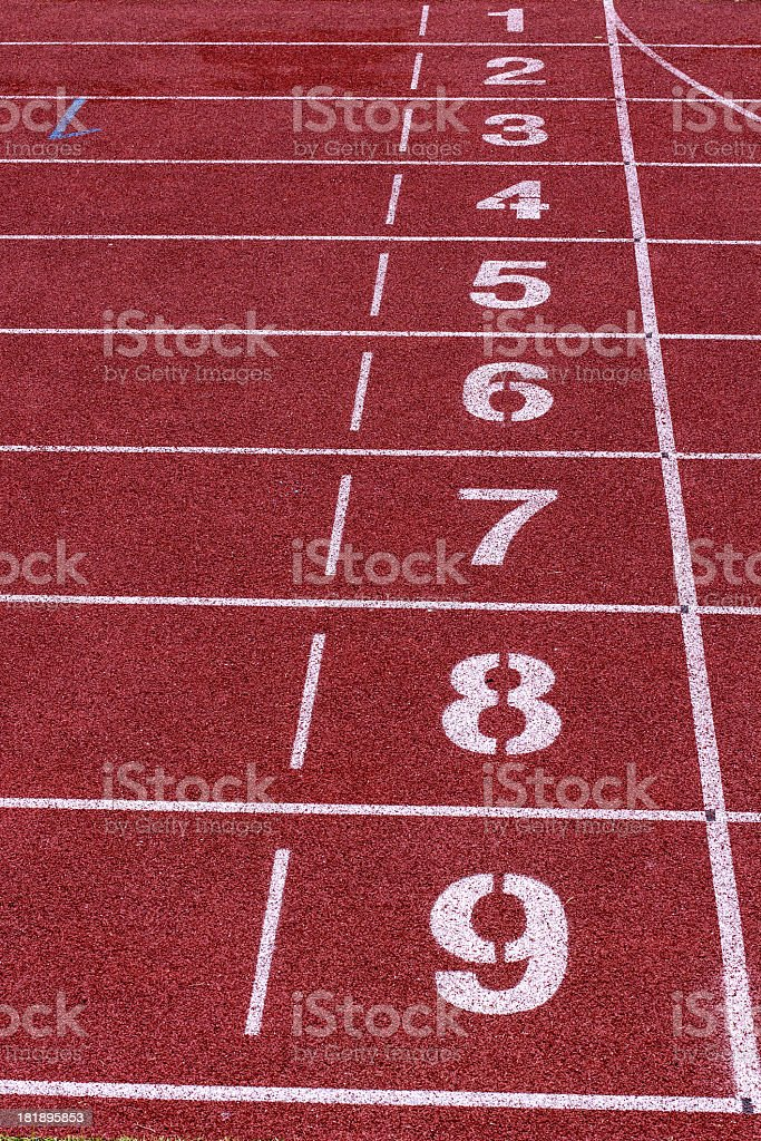 Starting lane royalty-free stock photo