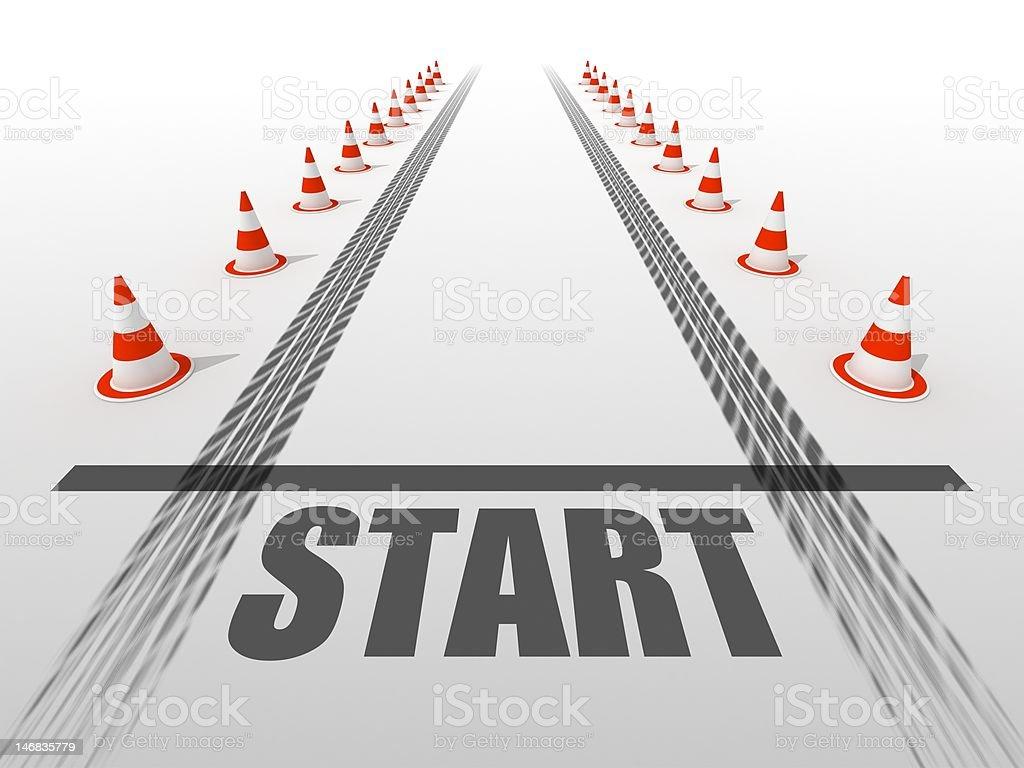 Starting line stock photo