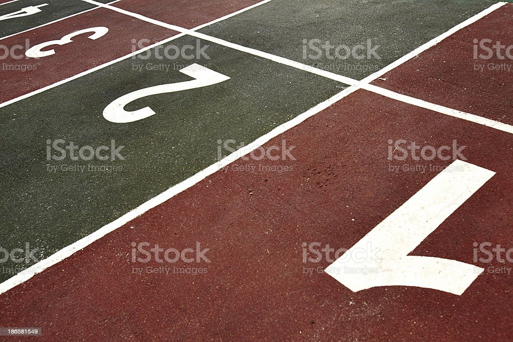 Starting line royalty-free stock photo