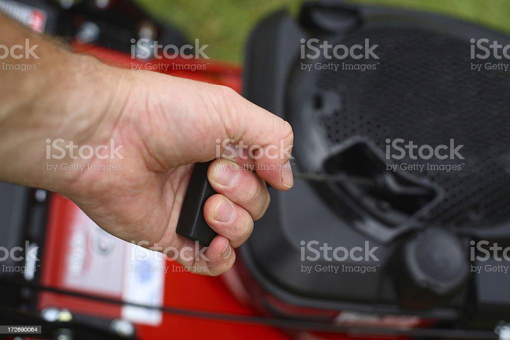 Starting Mower stock photo