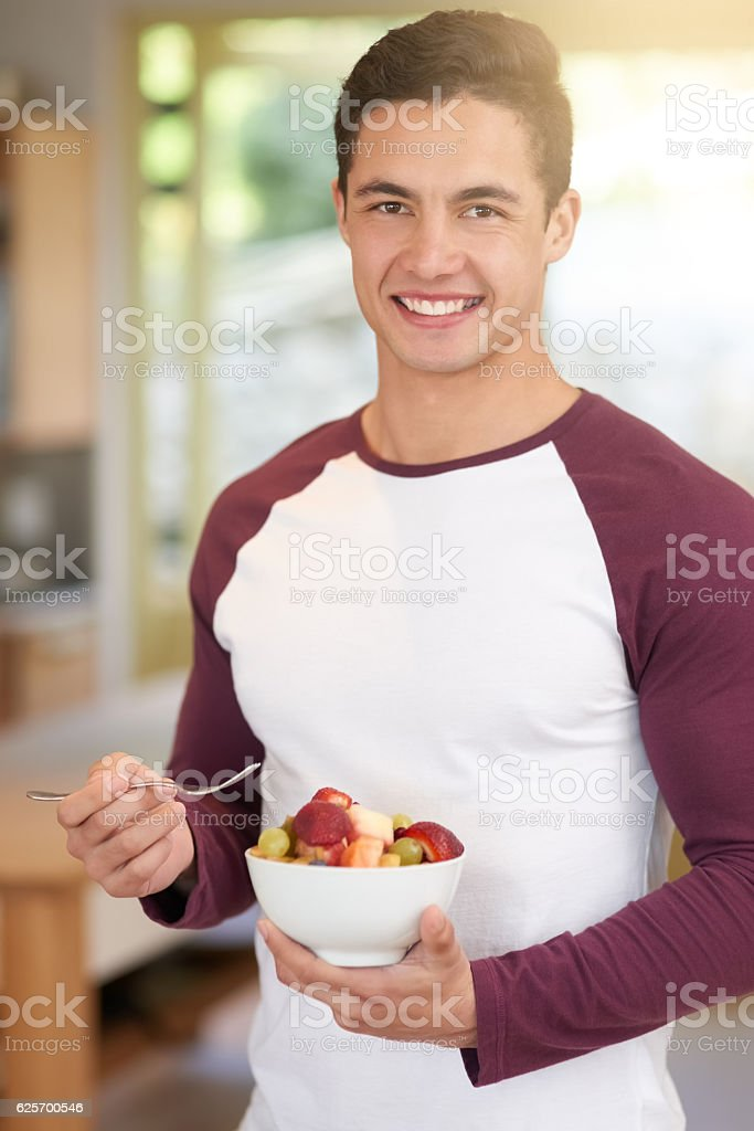 Starting my day the healthy way stock photo