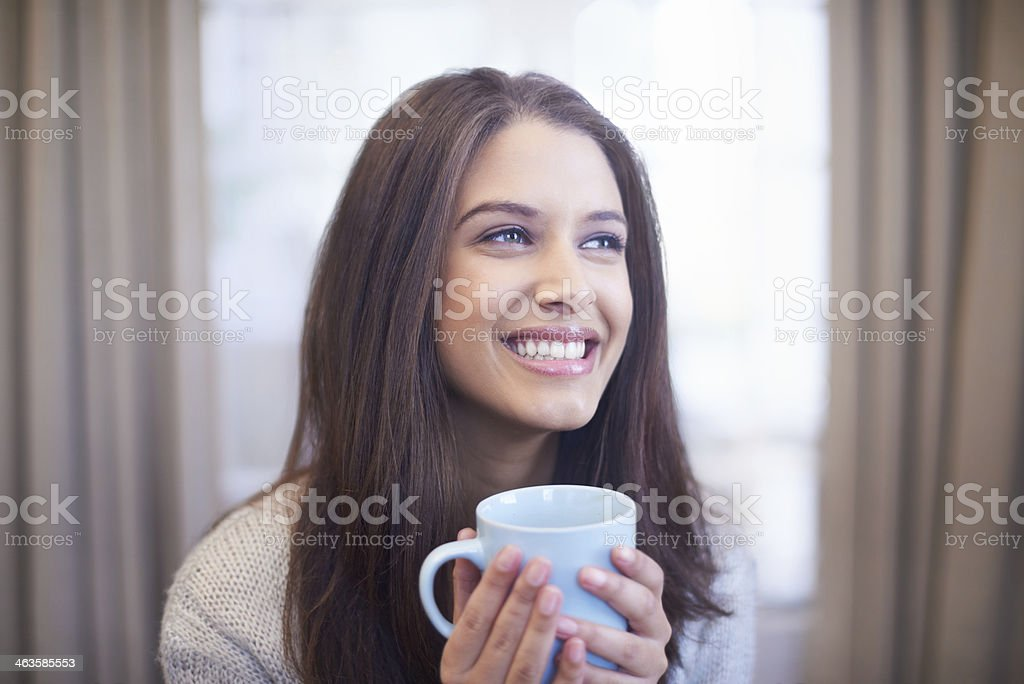 Starting the day off right stock photo