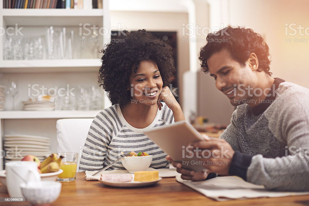 Starting the day together stock photo