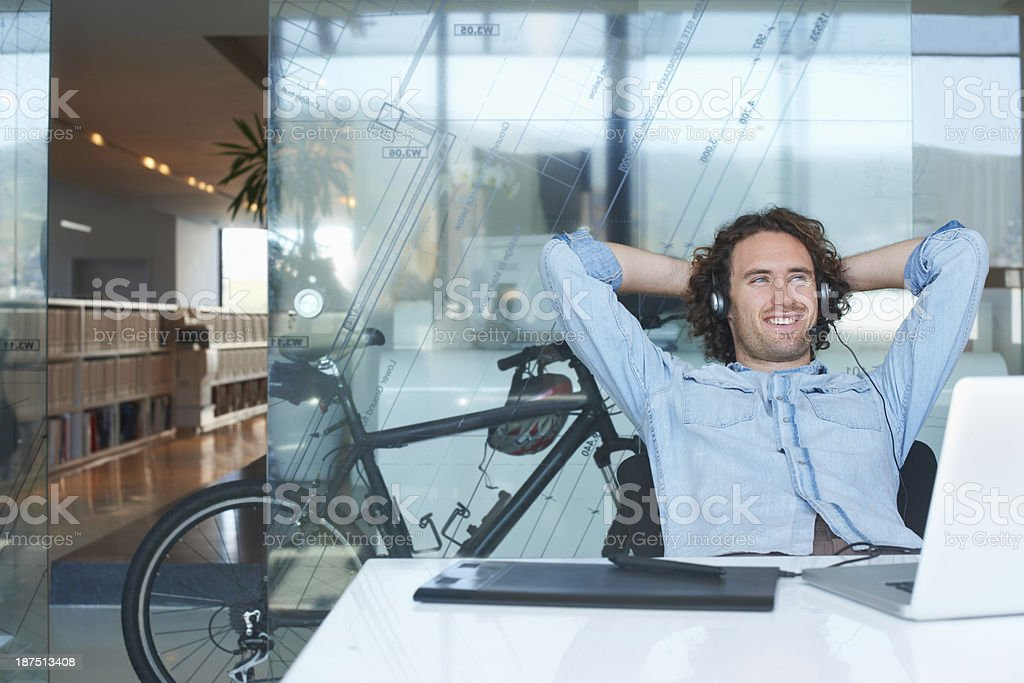 Starting the day with my feel-good mix! stock photo