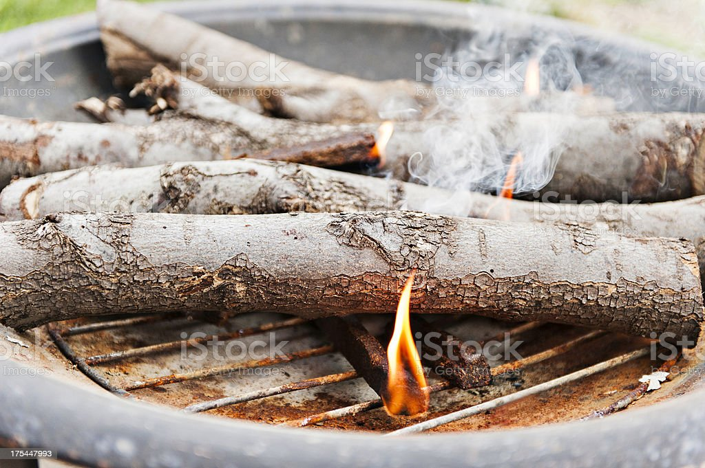 Starting the fire royalty-free stock photo