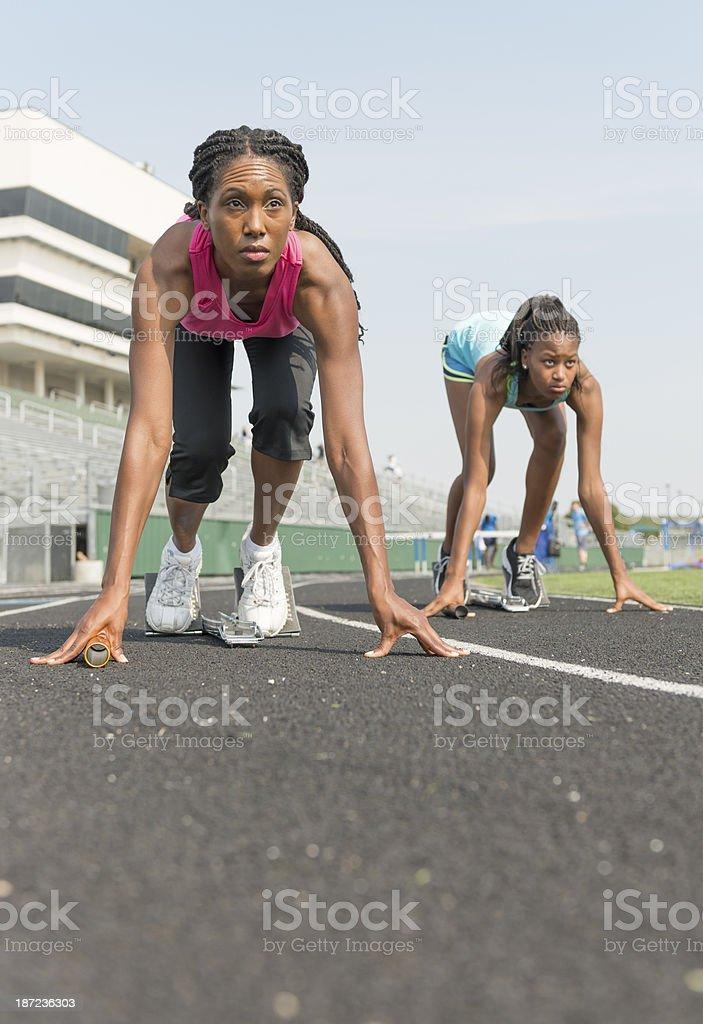 Starting the Race royalty-free stock photo