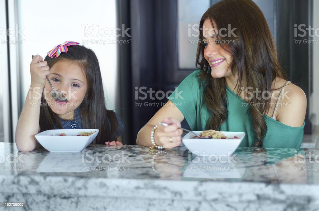 Starting their day off the right way royalty-free stock photo