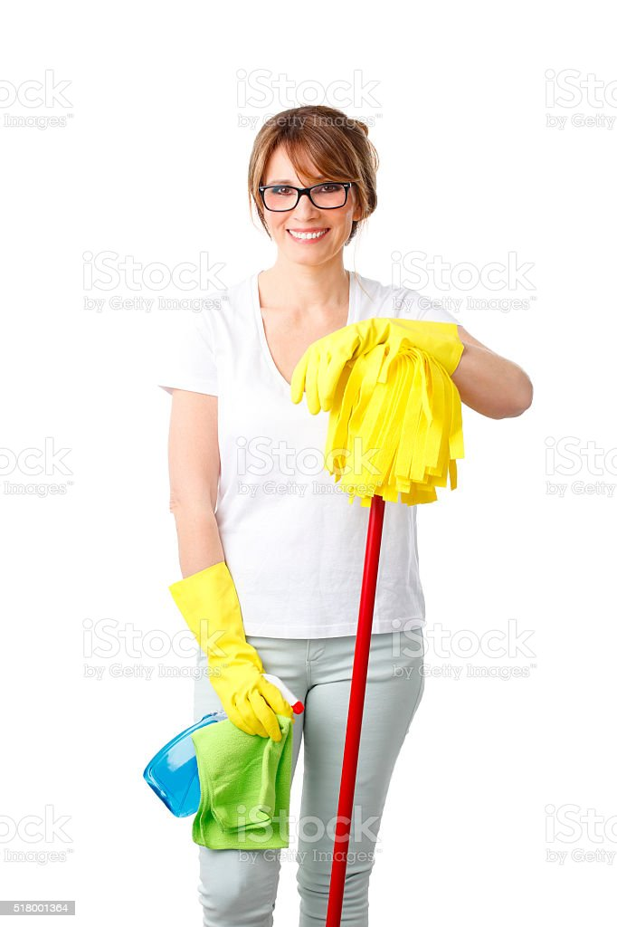 Starting to clean stock photo