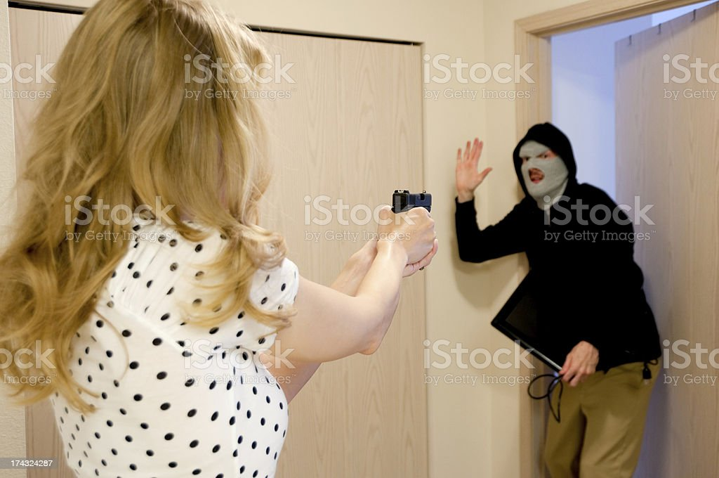 Startled Burglar royalty-free stock photo