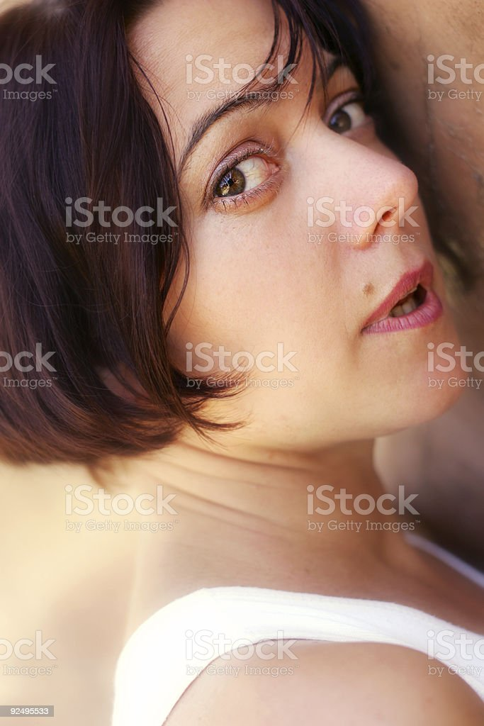 Startled question stock photo