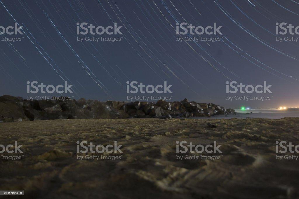 startrail stock photo