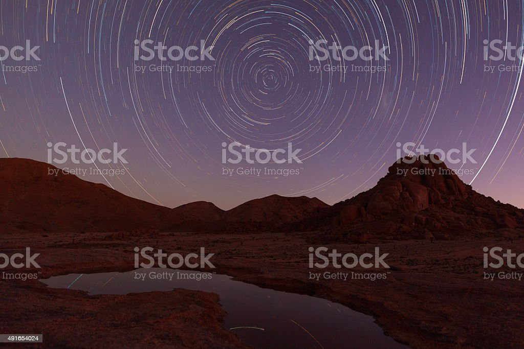Startrial reflection stock photo