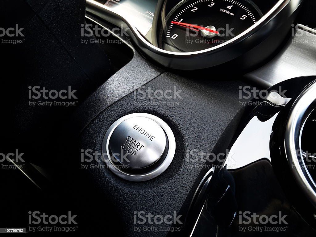 Start/Stop engine stock photo