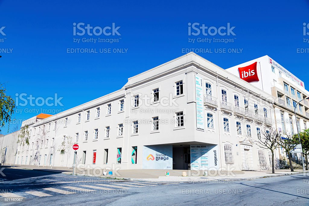Startup Braga building for entrepreneurs stock photo