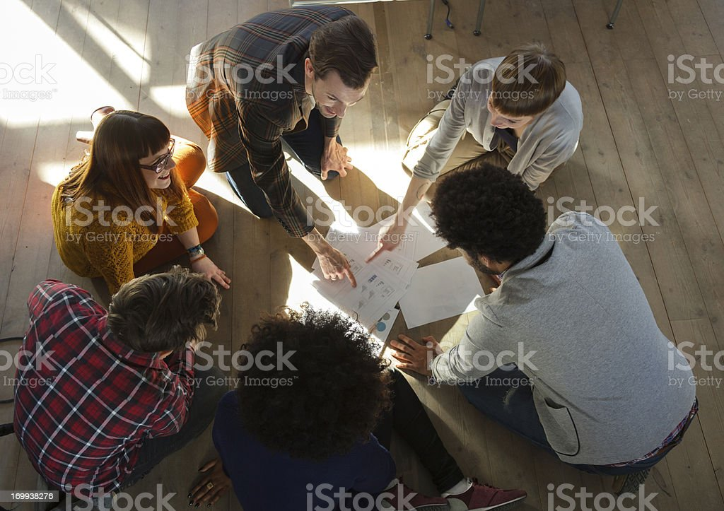 Startup business meeting royalty-free stock photo