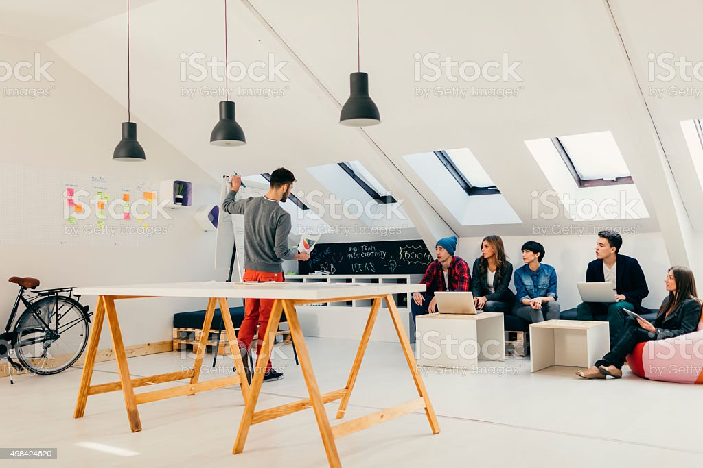 Startup Business Presentation. stock photo