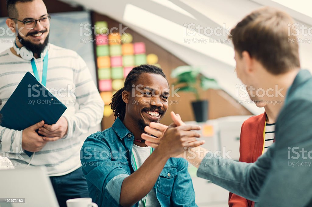 Startup Business Team Agreement. stock photo