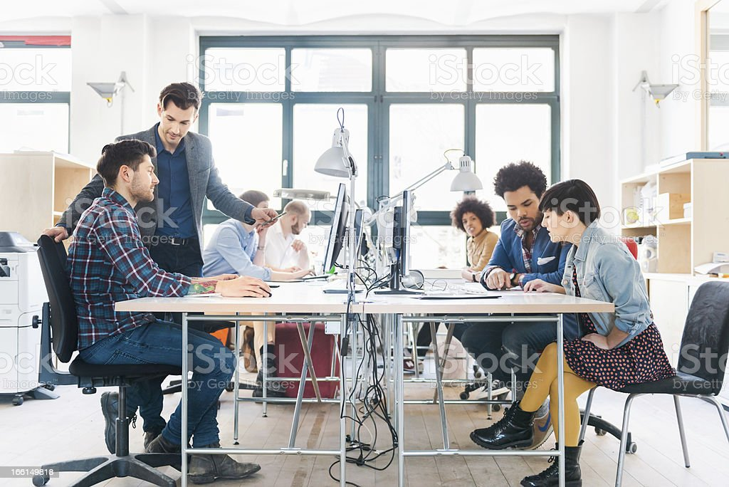 Start-up Business Team Working in Office royalty-free stock photo