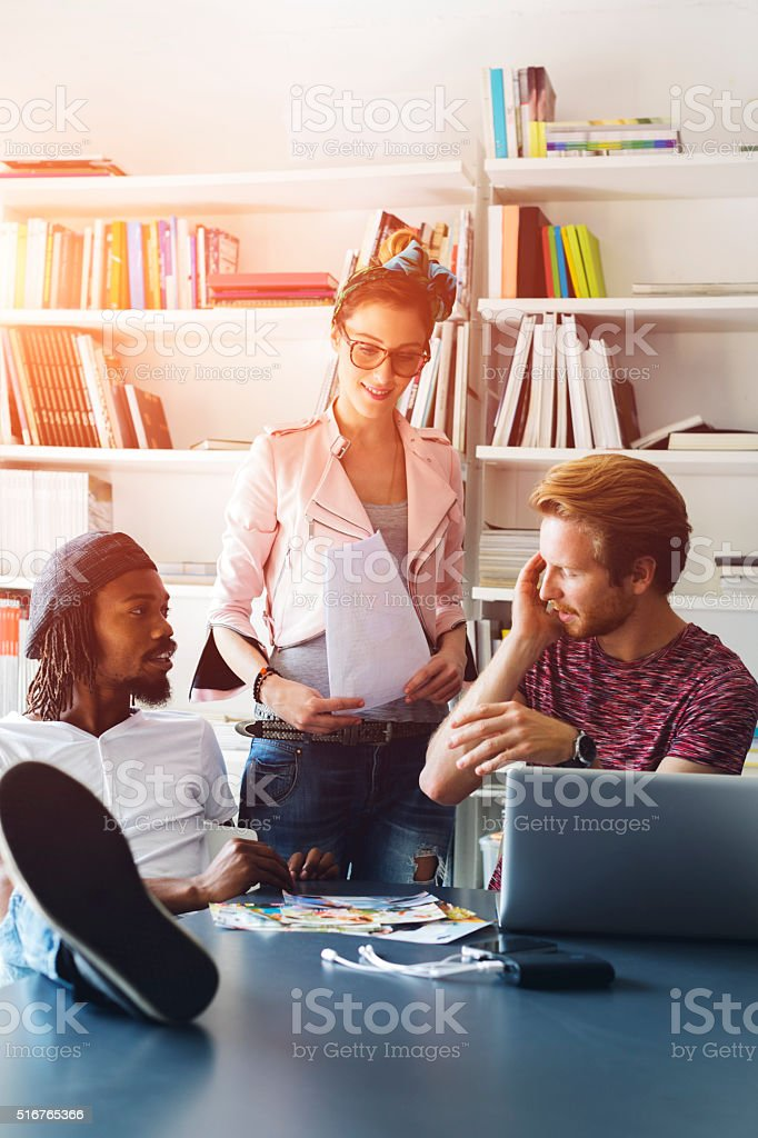 Startup Creative Agency. stock photo