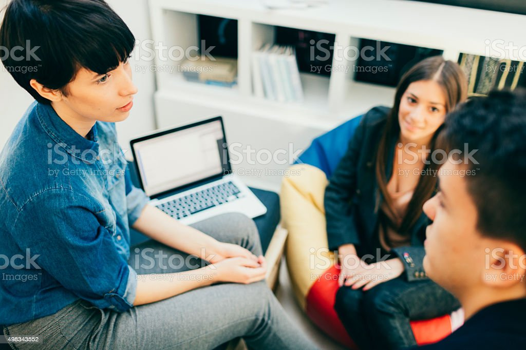 Start-up Development Team Collaborating. stock photo