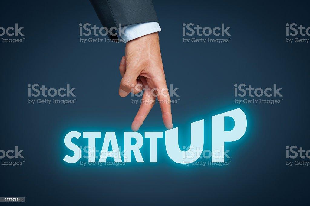 Startup in progress stock photo