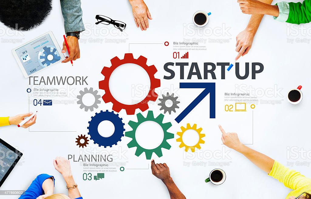 Startup New Business Plan Strategy Teamwork Concept stock photo