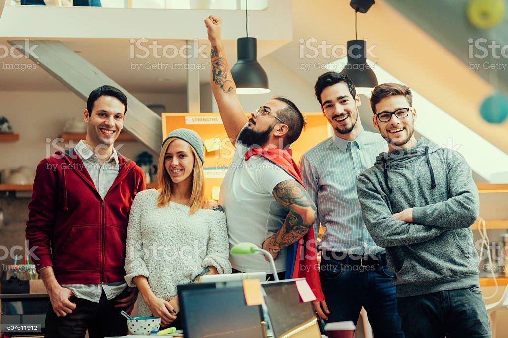 StartUp Programmers Team Portrait. stock photo