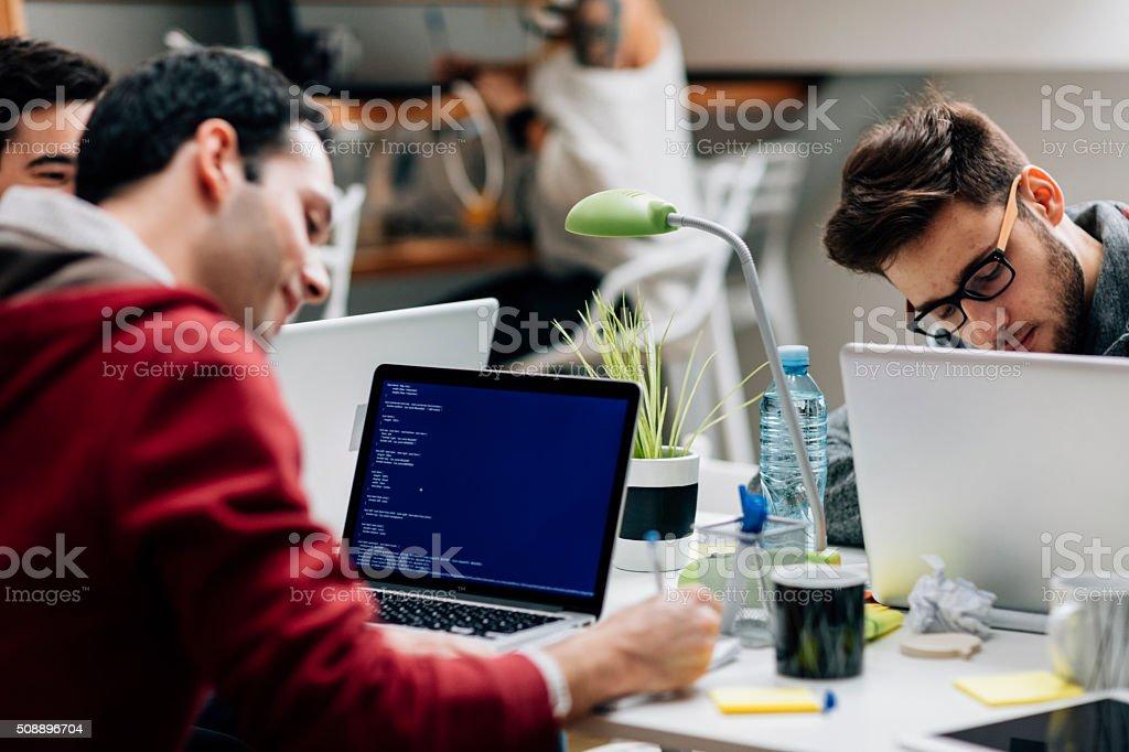 StartUp Programming Team stock photo