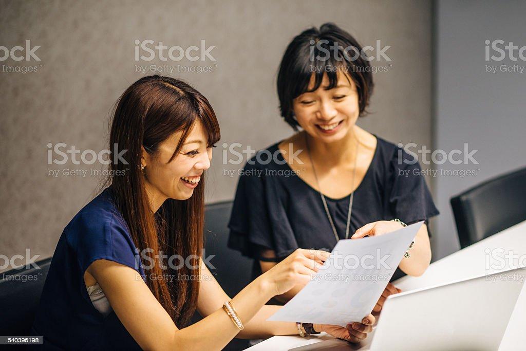 Start-up spirit amongst women stock photo