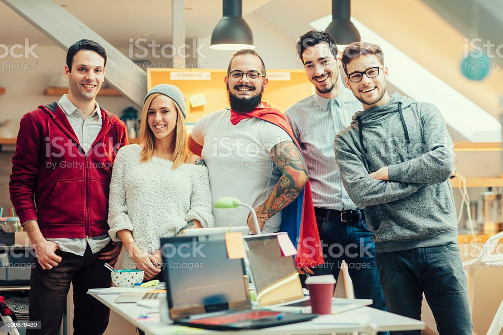 StartUp Team Portrait. stock photo