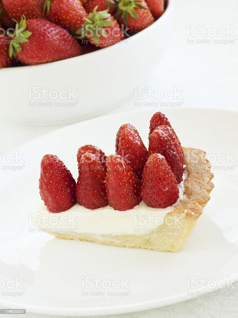 Starwberry tart royalty-free stock photo