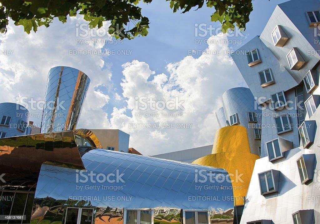 Stata Center on MIT Campus in Cambridge, Massachustets royalty-free stock photo