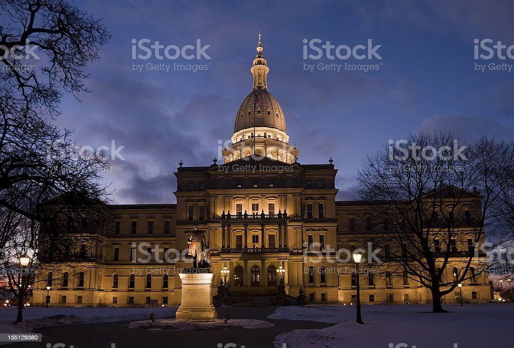 State Capital at Night stock photo