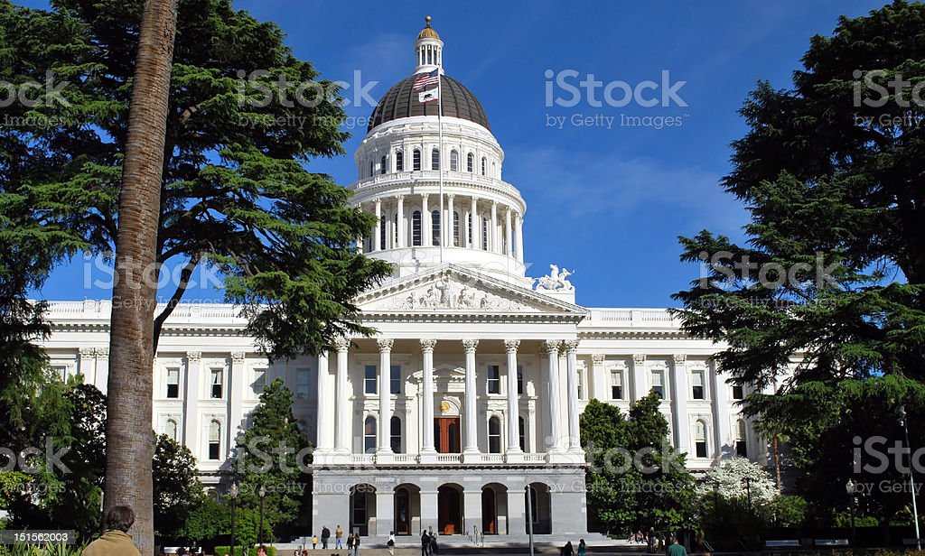 state capitol bldg front view  by lisa woodburn royalty-free stock photo