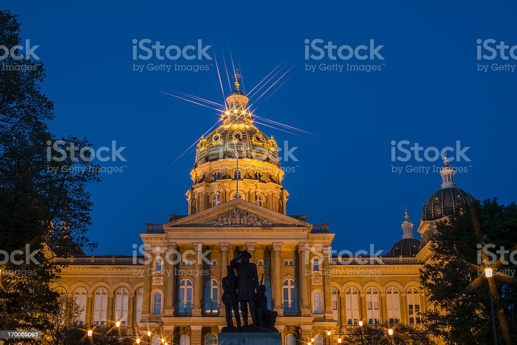 State Capitol Building, Des Moines, Iowa royalty-free stock photo