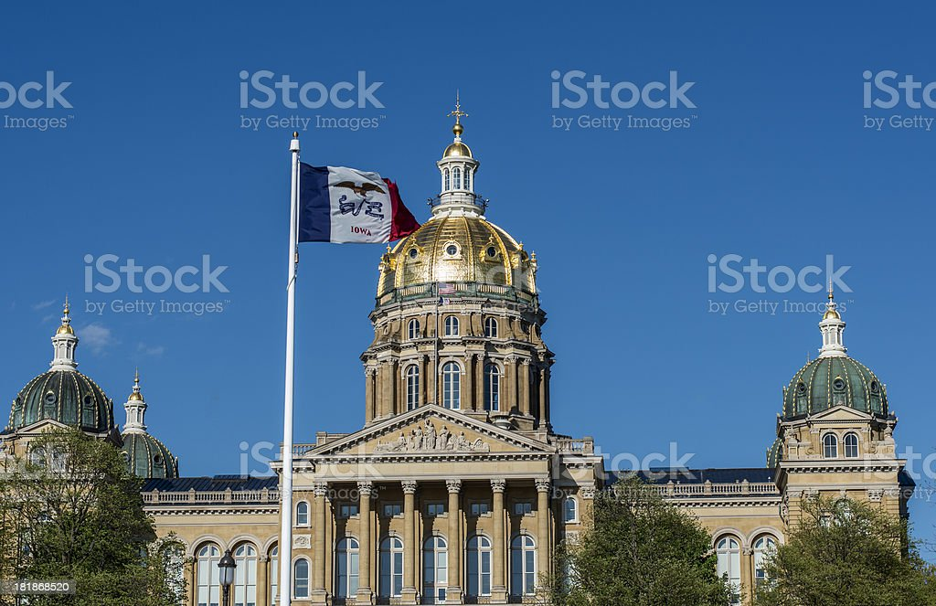 State Capitol Building, Des Moines, Iowa stock photo