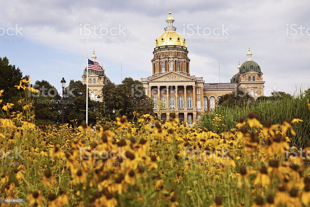 State Capitol Building in Des Moines stock photo