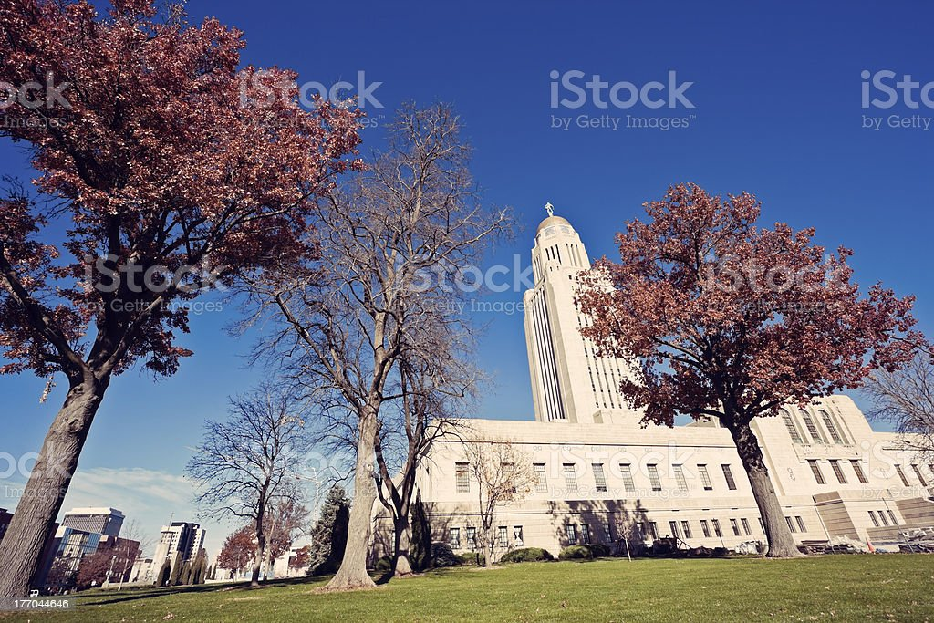 State Capitol Building in Lincoln stock photo