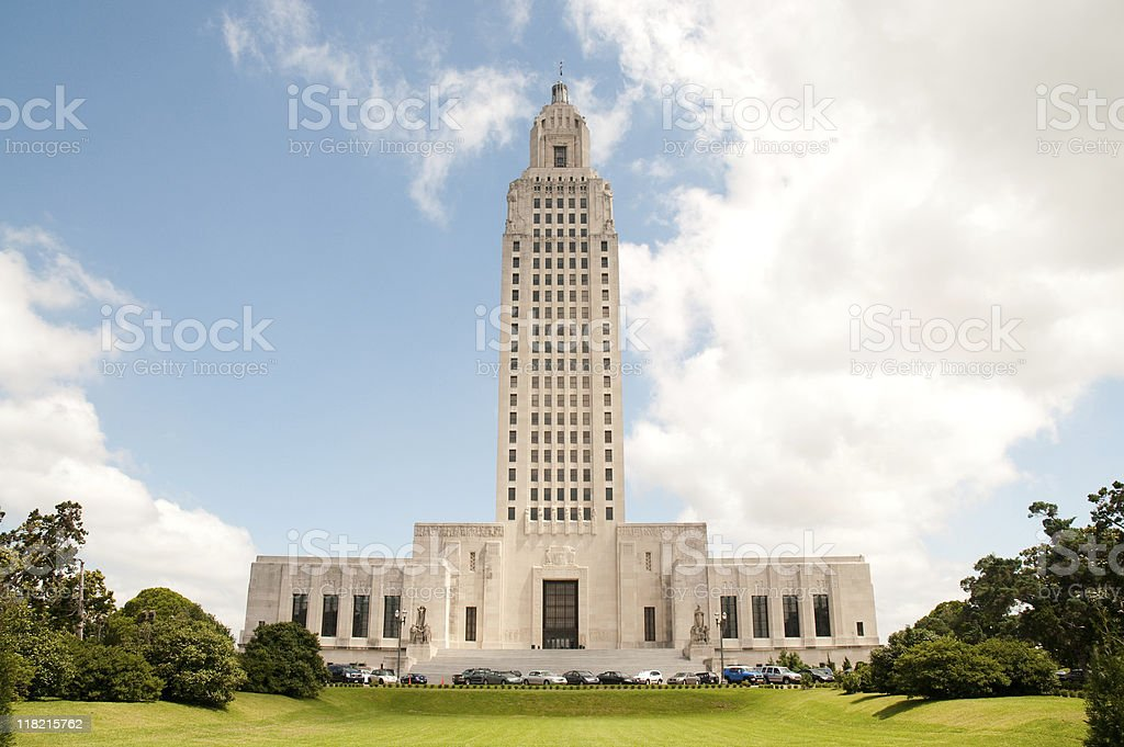 State Capitol building in Louisiana stock photo