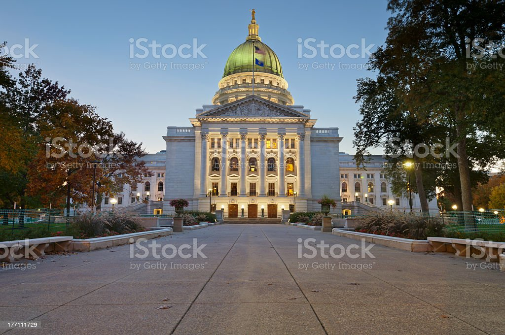 State capitol building in Madison stock photo
