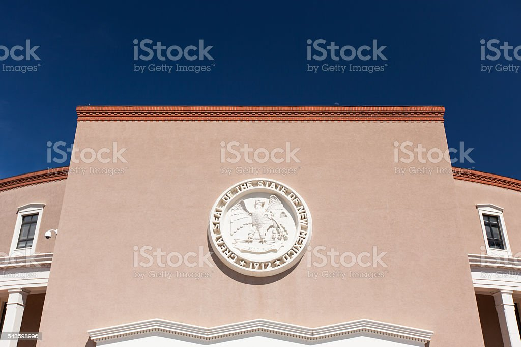 State Capitol building in Santa Fe, New Mexico, USA stock photo