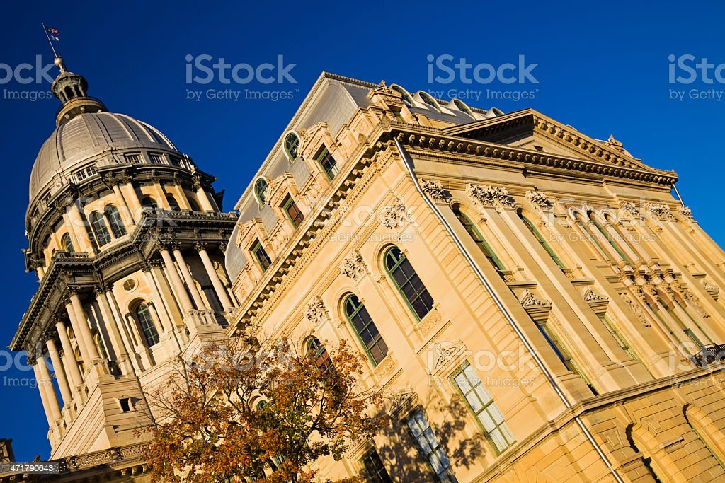 State Capitol Building in Springfield stock photo
