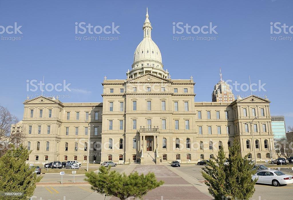 State Capitol Building, Lansing Michigan stock photo