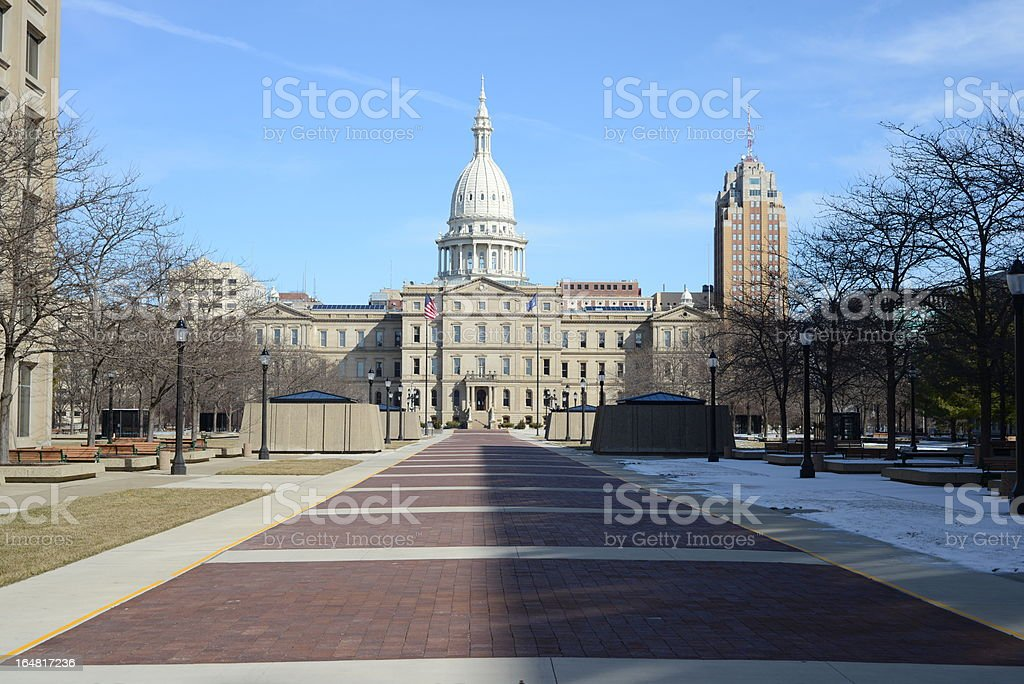 State Capitol Building, Michigan stock photo